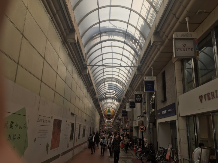 武蔵小山商店街パルム:入口付近
