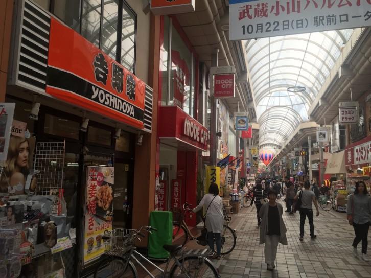 武蔵小山商店街パルムの様子