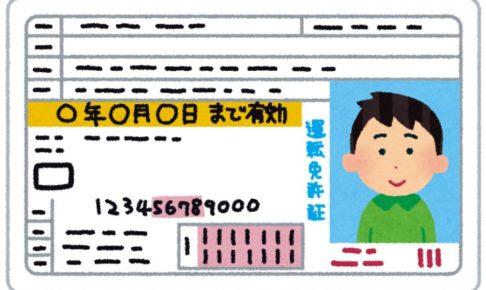 運転免許のイラスト