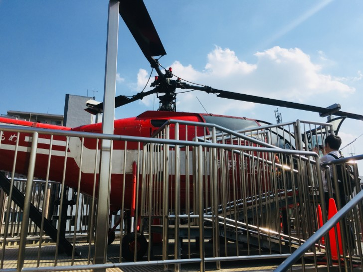 消防博物館:屋外の消防ヘリ