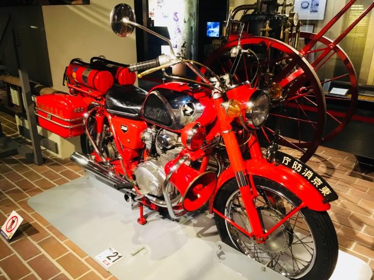 消防博物館:消防バイク