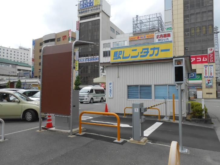 徳島駅前のレンタカー