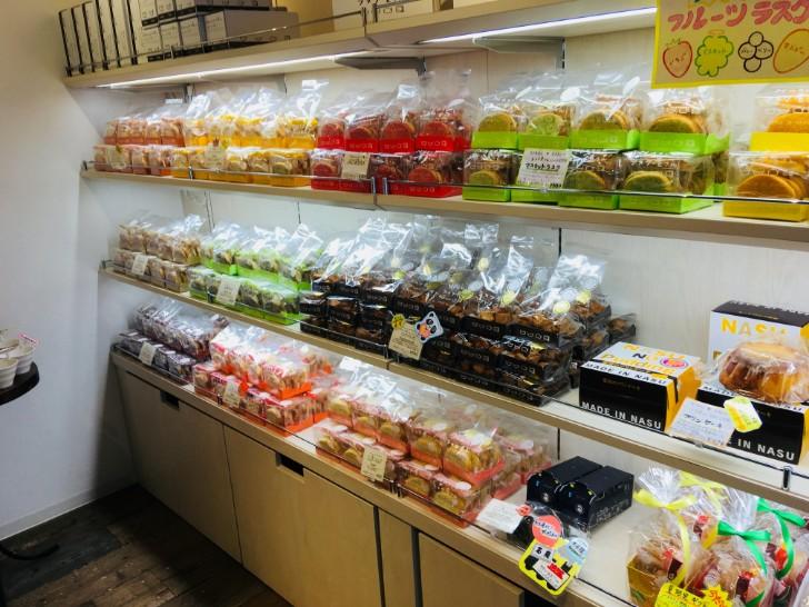 NIKKO・NASUのラスク屋さん 店内の様子