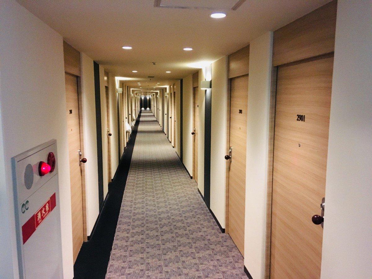 富山地鉄ホテル:廊下