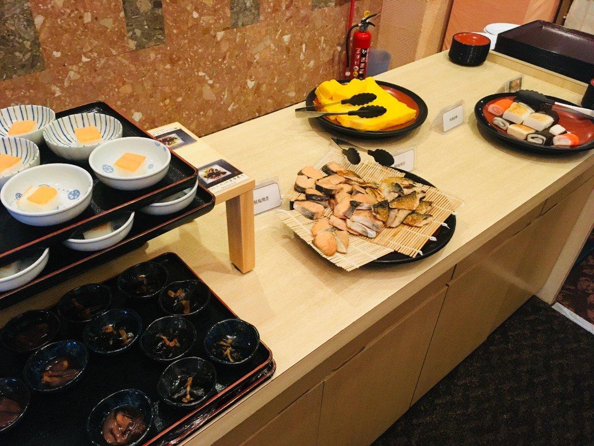 富山地鉄ホテルの朝食:和食