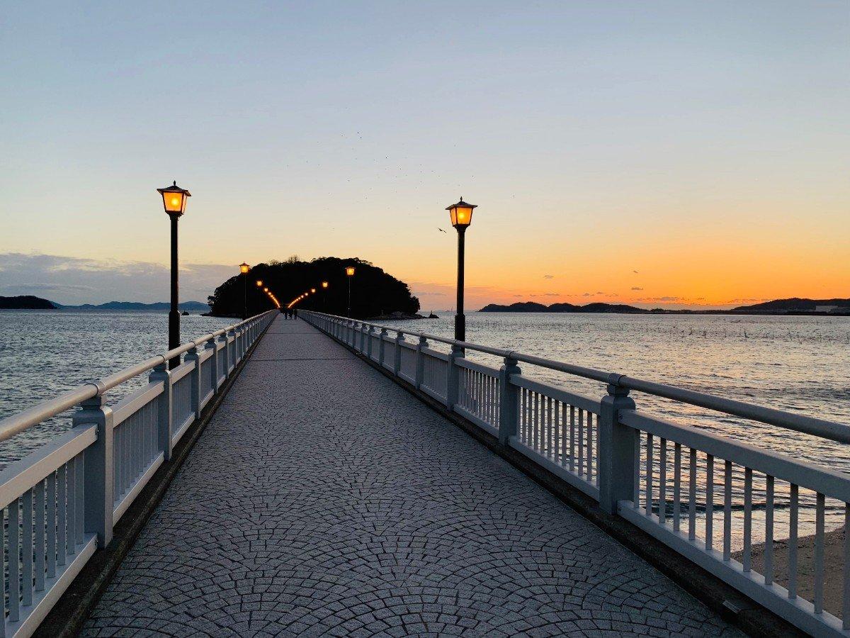 夕方の竹島橋