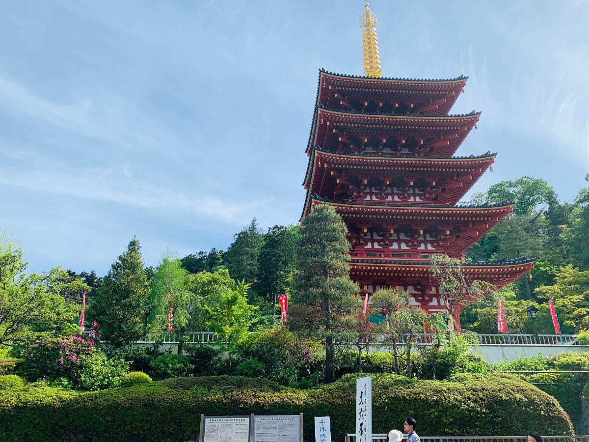 高幡不動尊5重の塔