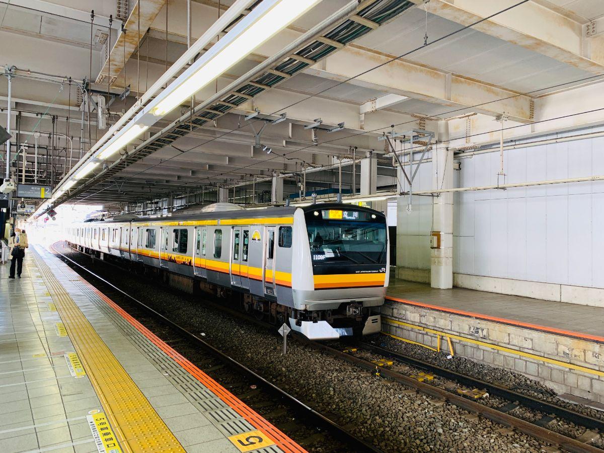 南武線登戸駅ホーム