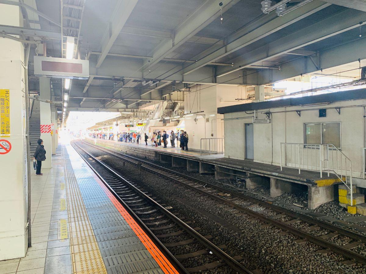 武蔵溝ノ口駅ホーム